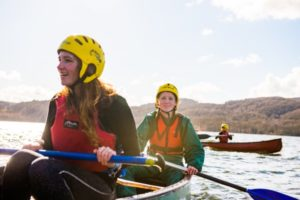 Two Scout Open Canoeing