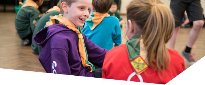cub scouts chatting