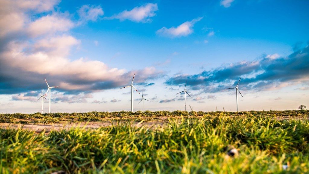 Wind farm depicts the aim of SDG7 to provide affordable and clean energy