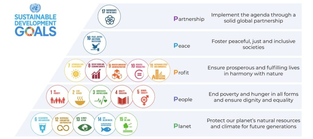 Sustainable development goals and the 5 P's