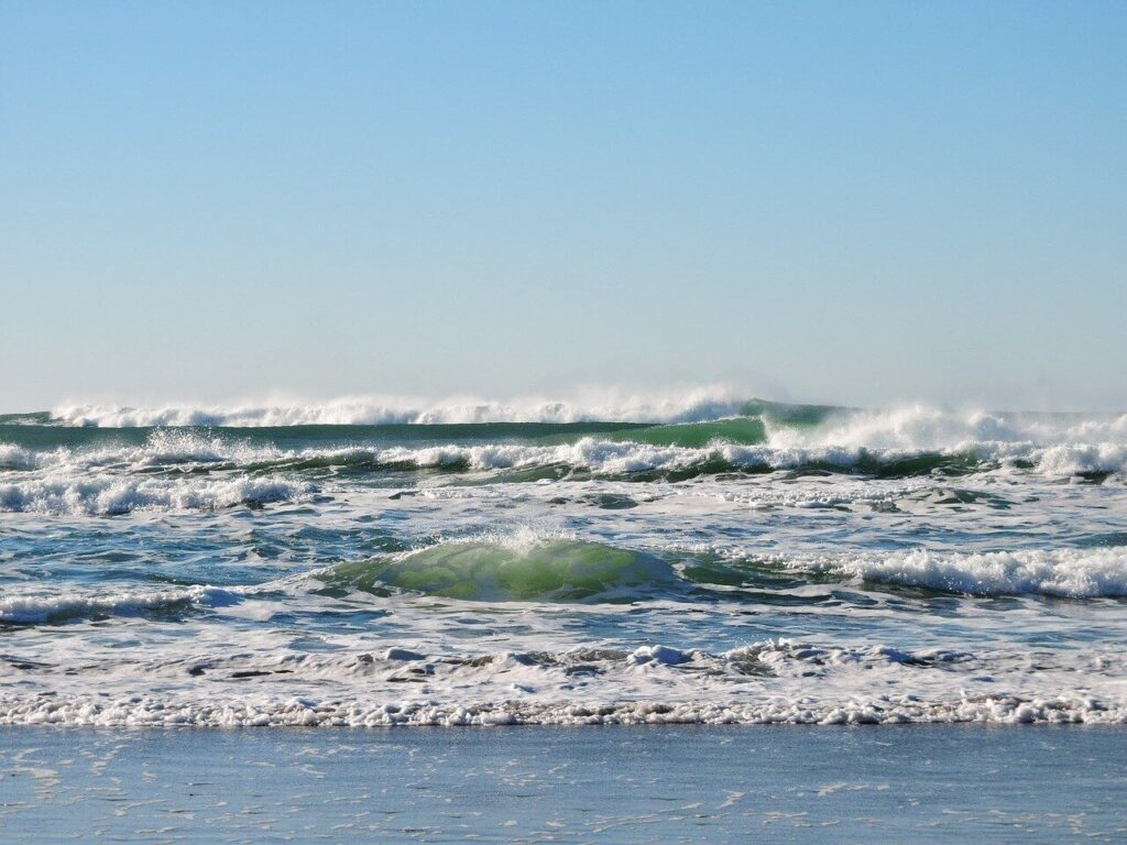 sea waves - climate change affects the sea level