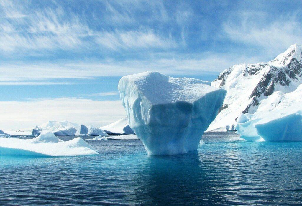 ocean and melting iceberg