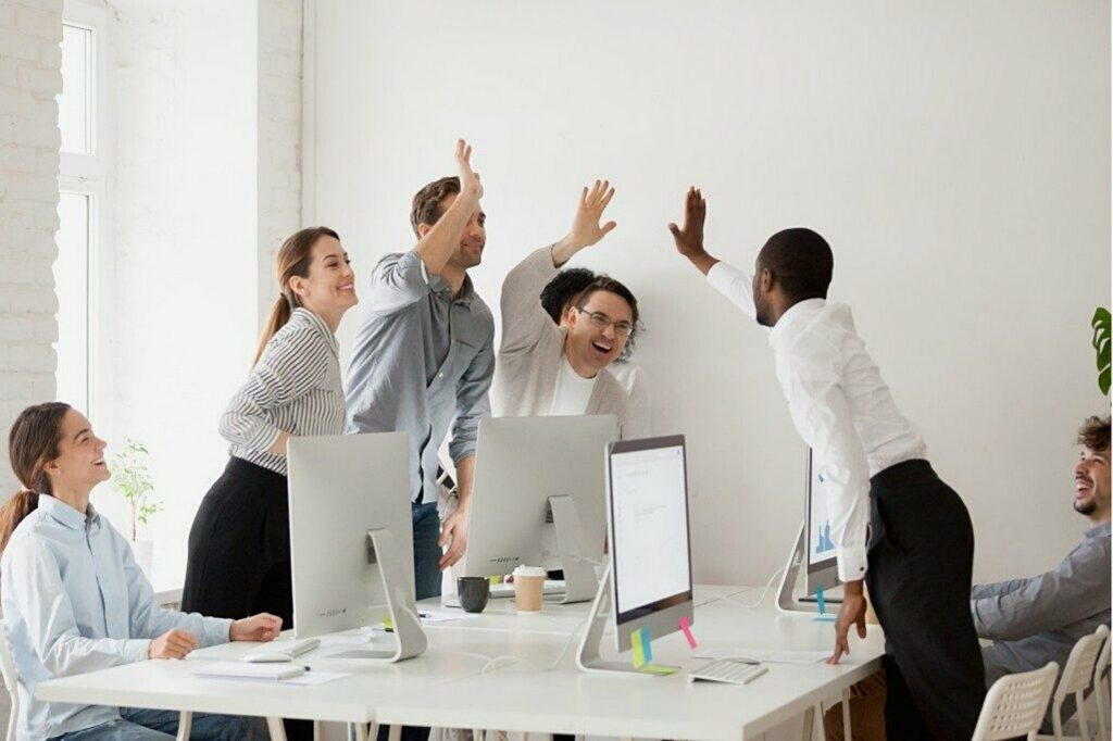 Motivated employees with high levels of commitment and engagement.