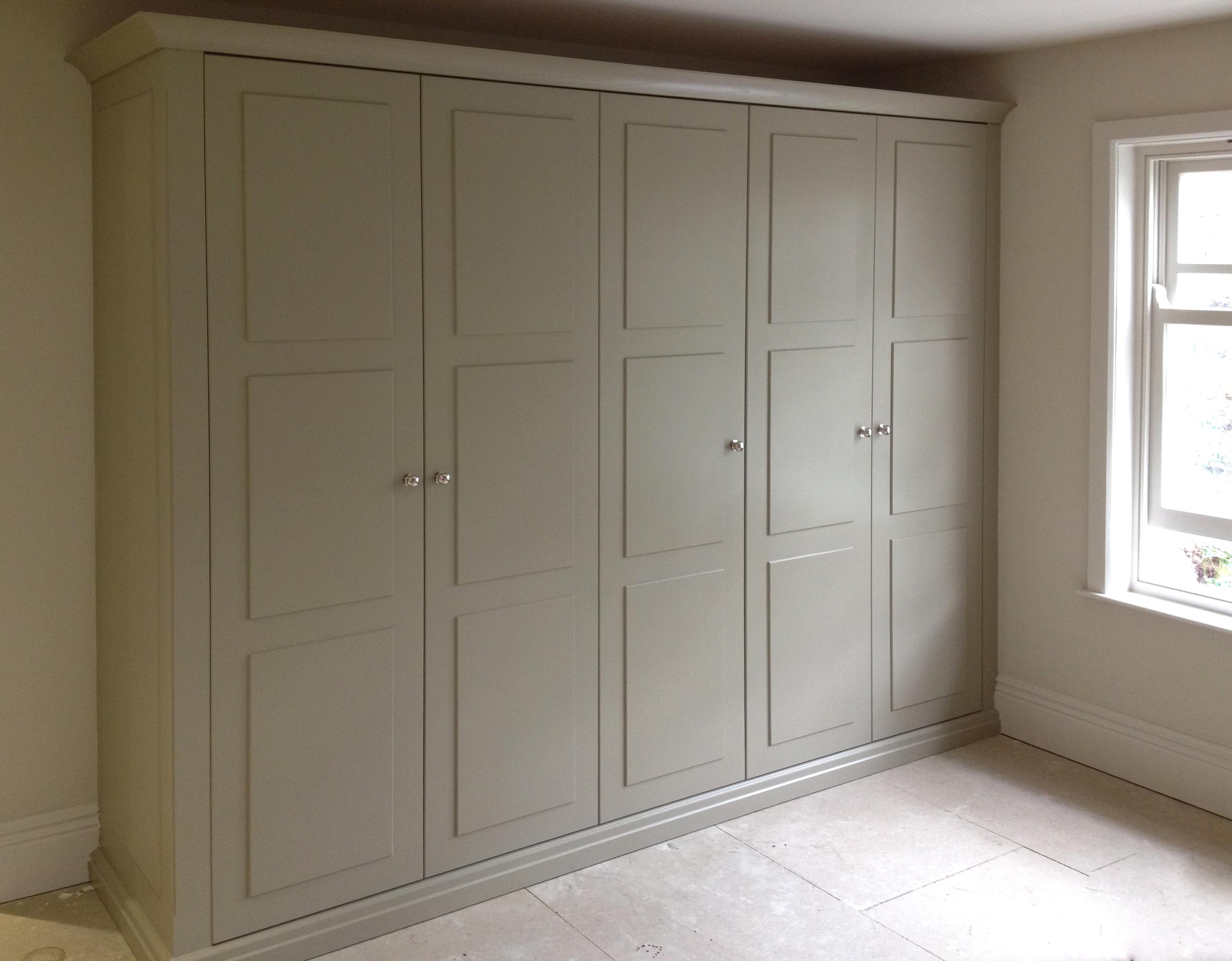 Grey Panelled Wardrobes