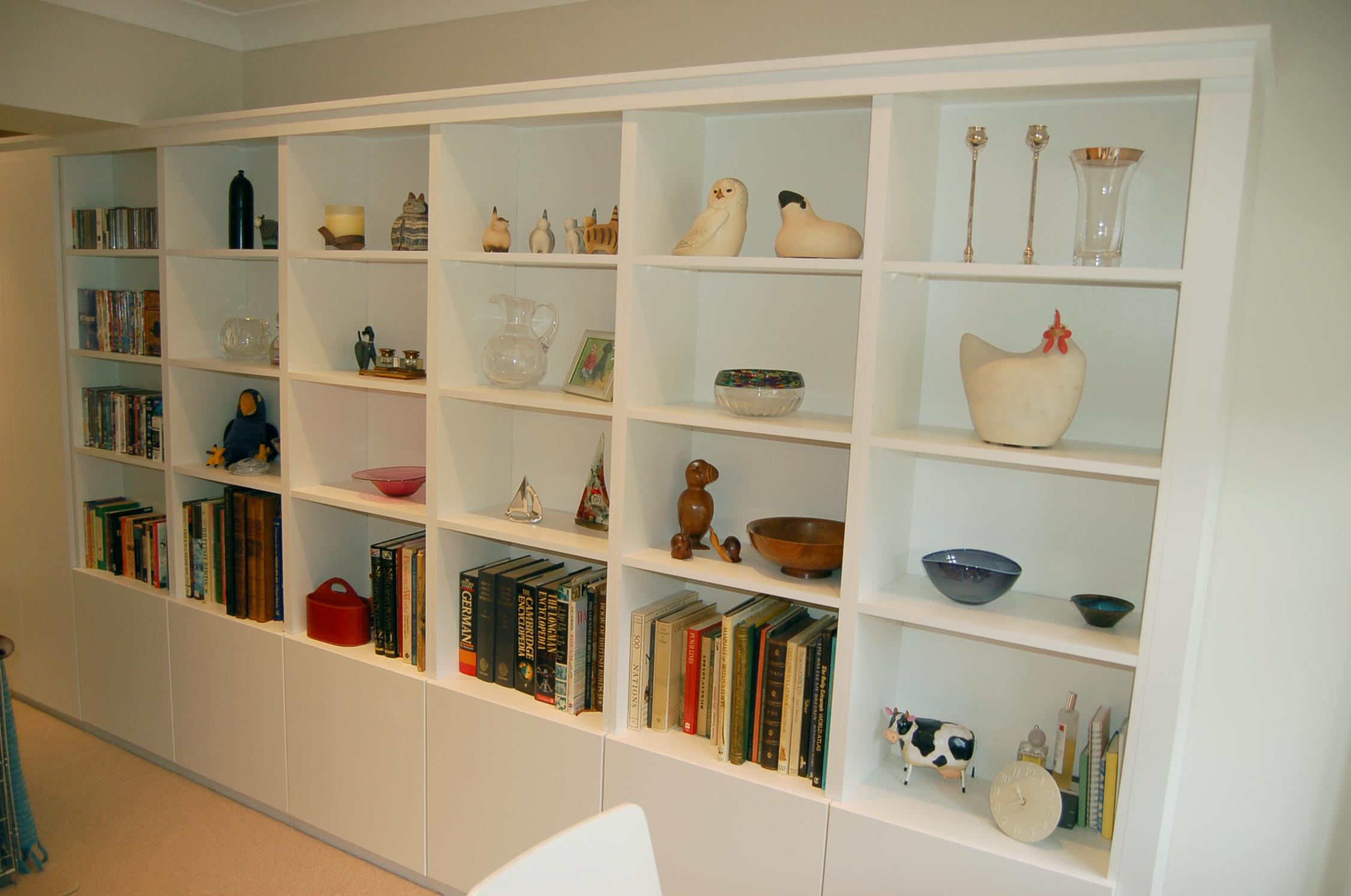 All White Shelving & Storage