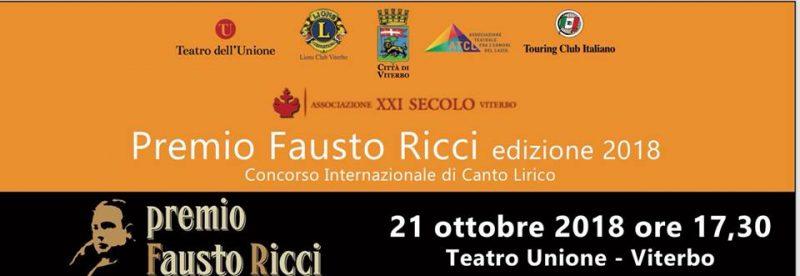 Concorso Lirico Premio Fausto Ricci 2018