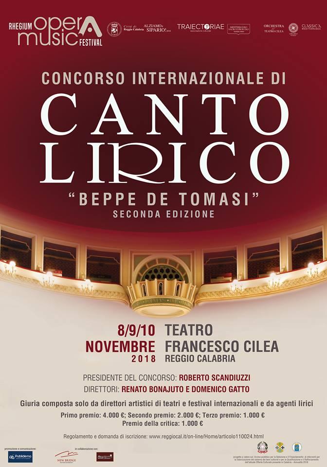 """Alle porte la seconda edizione del Concorso Internazionale di Canto Lirico """"Beppe De Tomasi"""""""