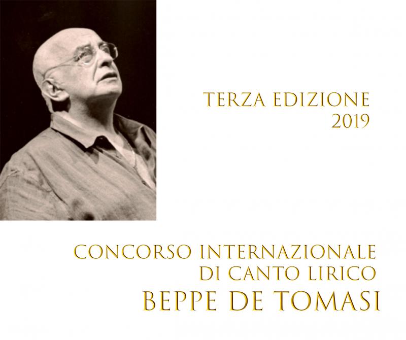 """Concorso Internazionale di Canto Lirico """"Beppe De Tomasi"""" – Terza Edizione 2019"""