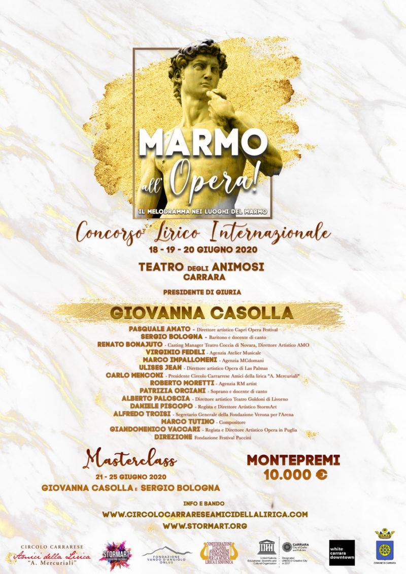 CONCORSO LIRICO INTERNAZIONALE MARMO ALL'OPERA
