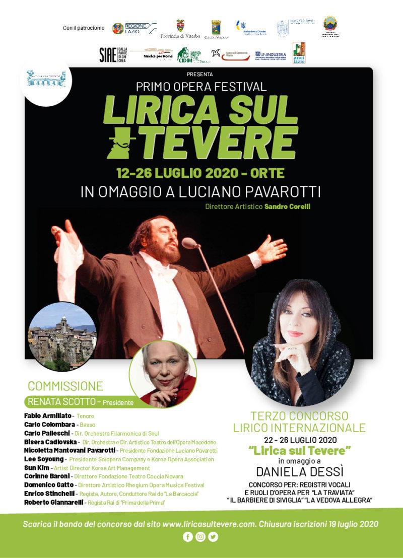 CONCORSO LIRICO INTERNAZIONALE LIRICA SUL TEVERE dal 22 al 26 Luglio 2020