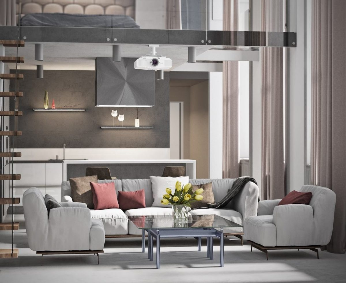 Living room render