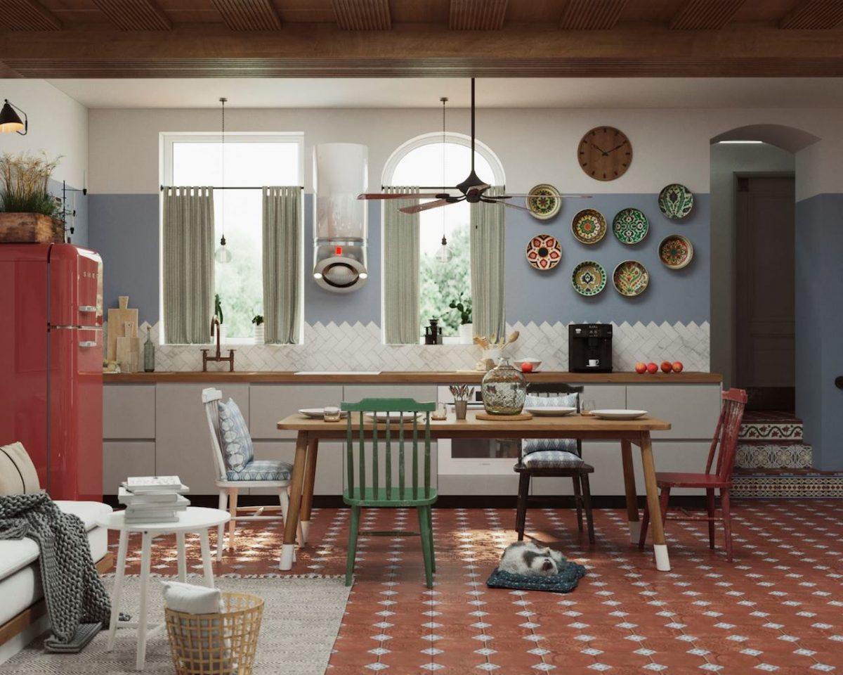Hotel kitchen render