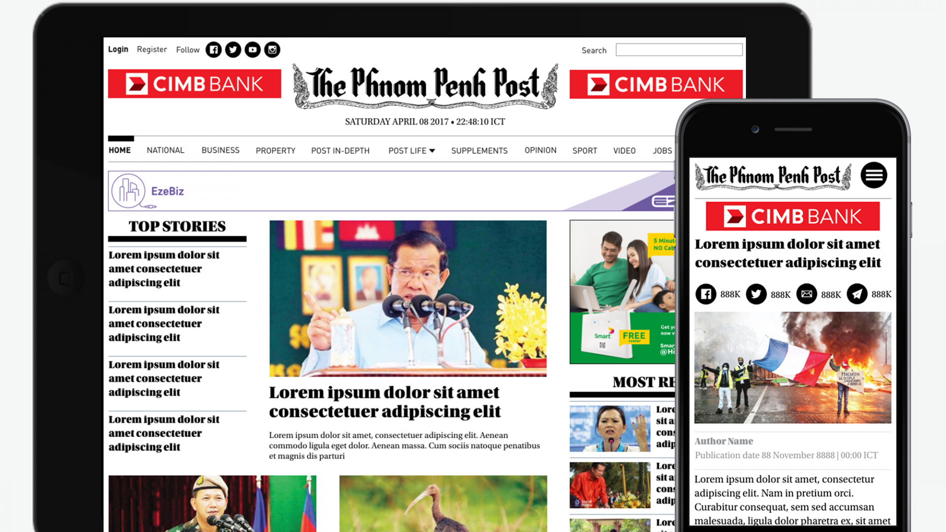 Protected: The Phnom Penh Post Redesign