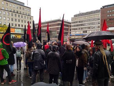 Uppställning inför demo, Stockholm