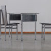 Unique Gerard Kuijpers 1986 writing table & chairs