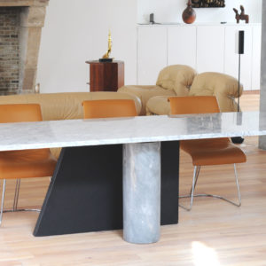 1985 ' Ambiguita ' dining table by Lella & Massimo Vignelli