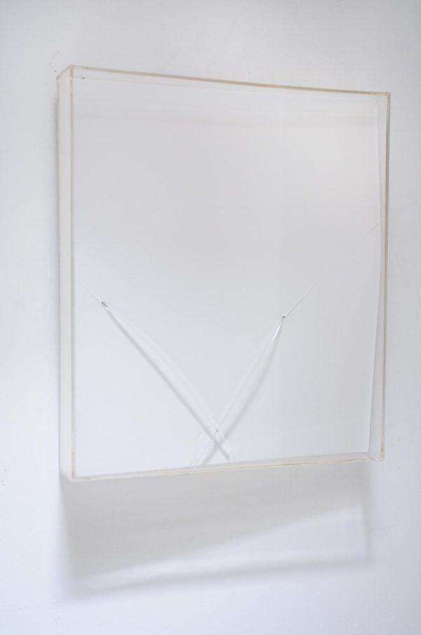 Untitled, 1982 Lacquered masonite & plexi glass. Francis Dusepulchre, luminance, ombre dessinée. Belgian art, moderne art, Alain Hens, Kloosterstraat, Antwerp, Belgium