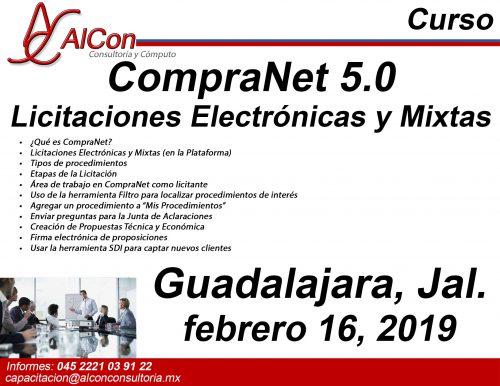 Curso CompraNet 5.0 Guadalajara, Jalisco Arcadio Alonso Sánchez AlCon Consultoría y Cómputo