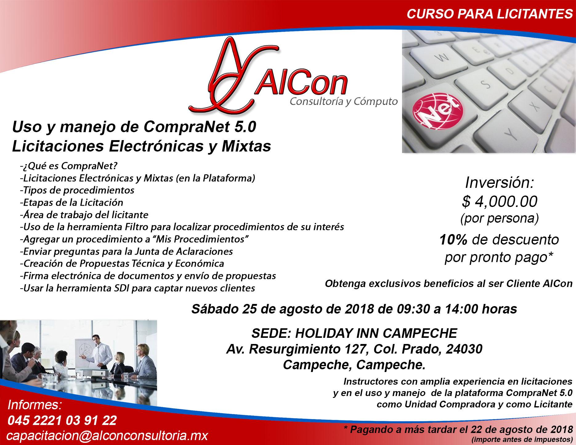 Curso CompraNet 5.0 Campeche
