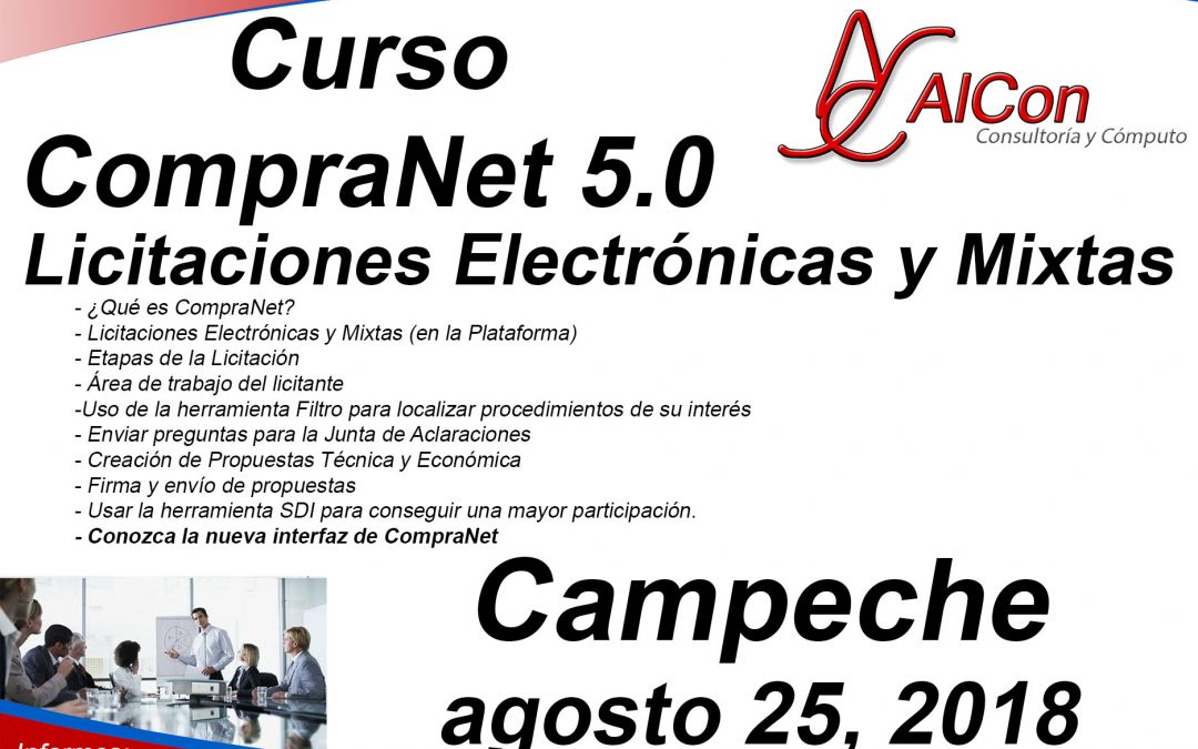 Curso de CompraNet 5.0, Campeche