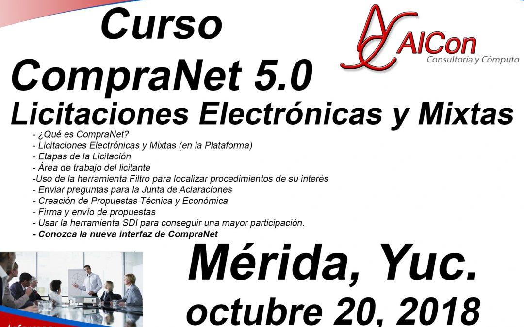 Curso CompraNet 5.0, Mérida, Yucatán