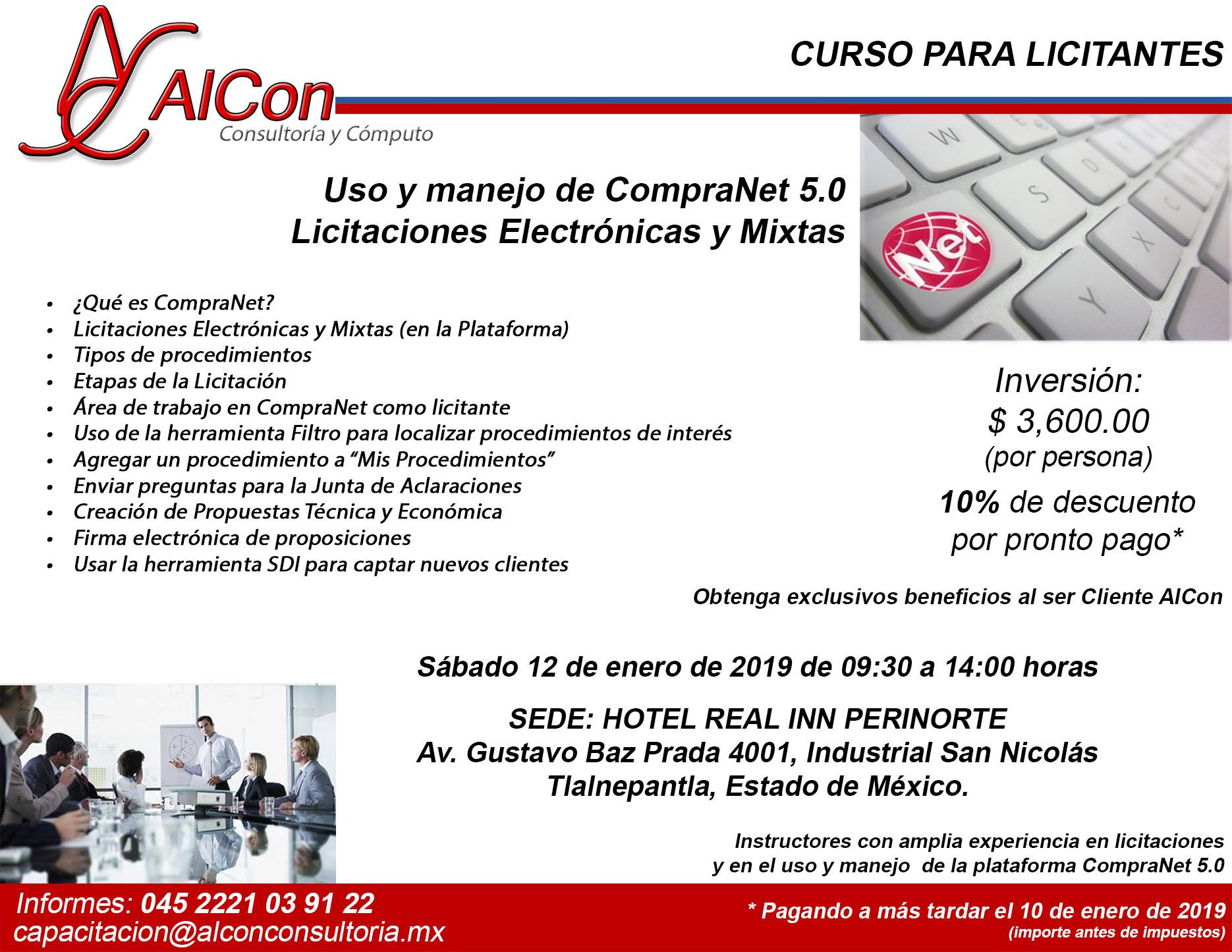 Curso CompraNet 5.0 Estado de México Arcadio Alonso Sánchez
