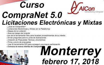 Curso de CompraNet 5.0, Monterrey, NL