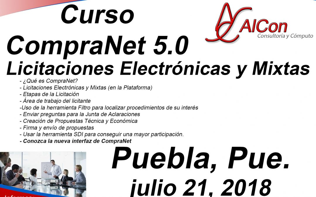 Curso CompraNet 5.0 Puebla