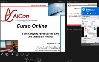 Curso online de Como preparar Propuestas para una Licitación Pública