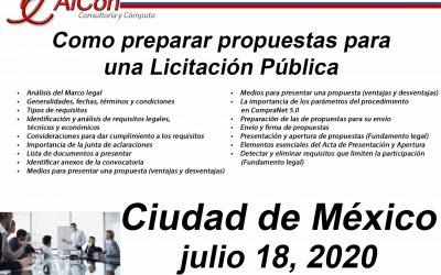 Preparar Propuestas para una Licitación Pública, Ciudad de México