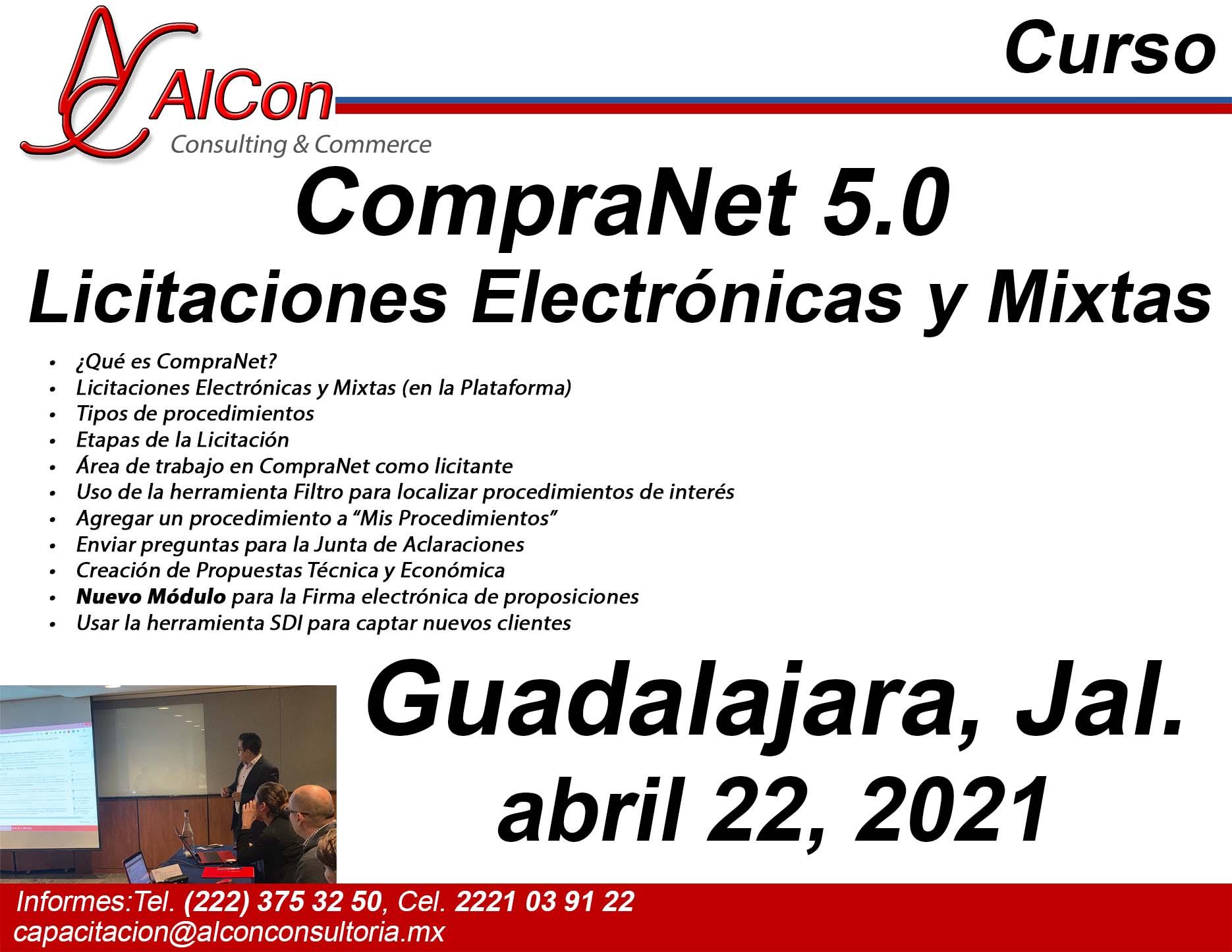 Curso de CompraNet 5.0, Guadalajara, Jalisco, AlCon Consultoría y Cómputo, AlCon Consulting And Commerce