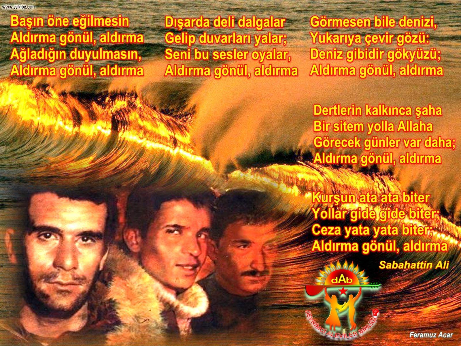 Alevi Bektaşi Kızılbaş Pir Sultan İslam dışı Atatürk faşist ehlibeyt 12 imam Devrimci Aleviler Birliği DAB deniz GEMİZ dalga1