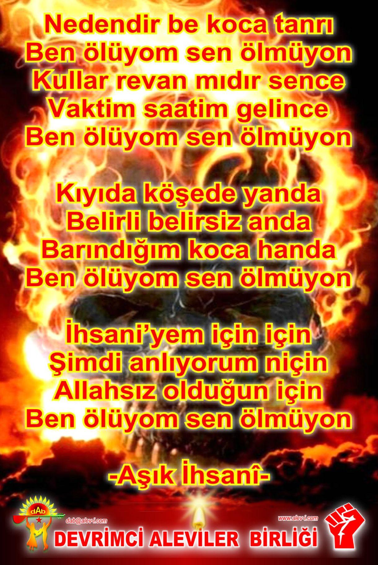 Alevi Bektaşi Kızılbaş Pir Sultan İslam dışı Atatürk faşist ehlibeyt 12 imam Devrimci Aleviler Birliği DAB devrimci Aleviler birligi DAB senolmuyon