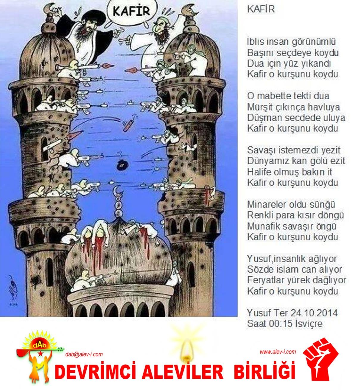 Alevi Bektaşi Kızılbaş Pir Sultan İslam dışı Atatürk faşist ehlibeyt 12 imam Devrimci Aleviler Birliği DAB yusuf ter koydu
