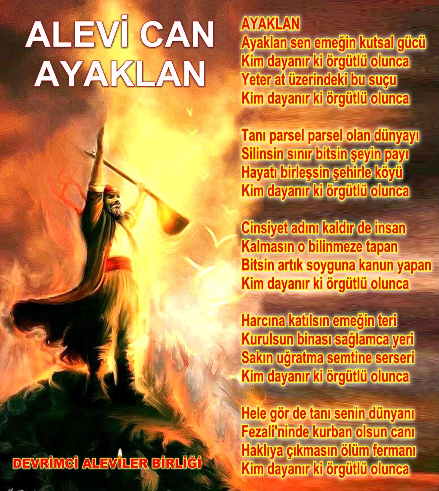 Alevi Bektaşi Kızılbaş Pir Sultan Devrimci Aleviler Birliği DAB Ayaklan Alevi can