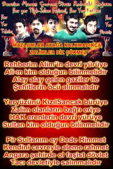 Alevi Bektaşi Kızılbaş Pir Sultan Devrimci Aleviler Birliği DAB SAHA GIDELIM