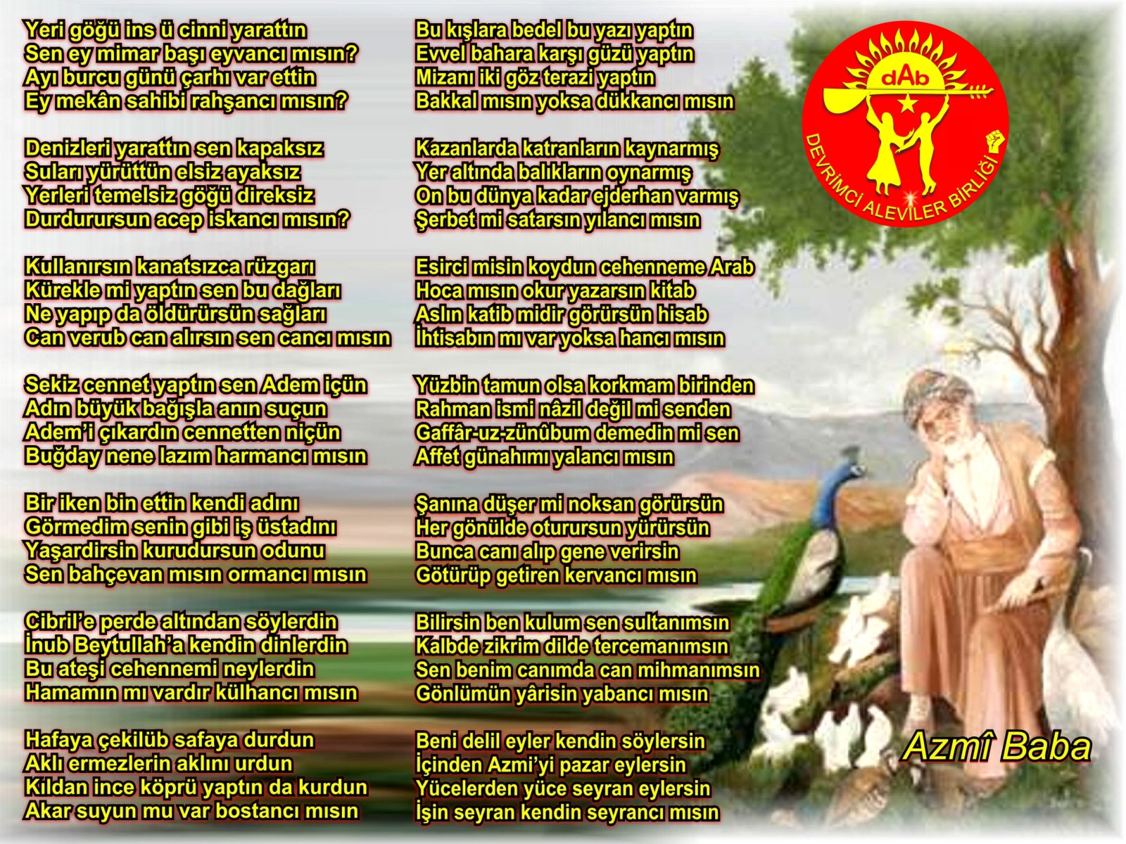 Alevi Bektaşi Kızılbaş Pir Sultan Devrimci Aleviler Birliği DAB asimazmi baba