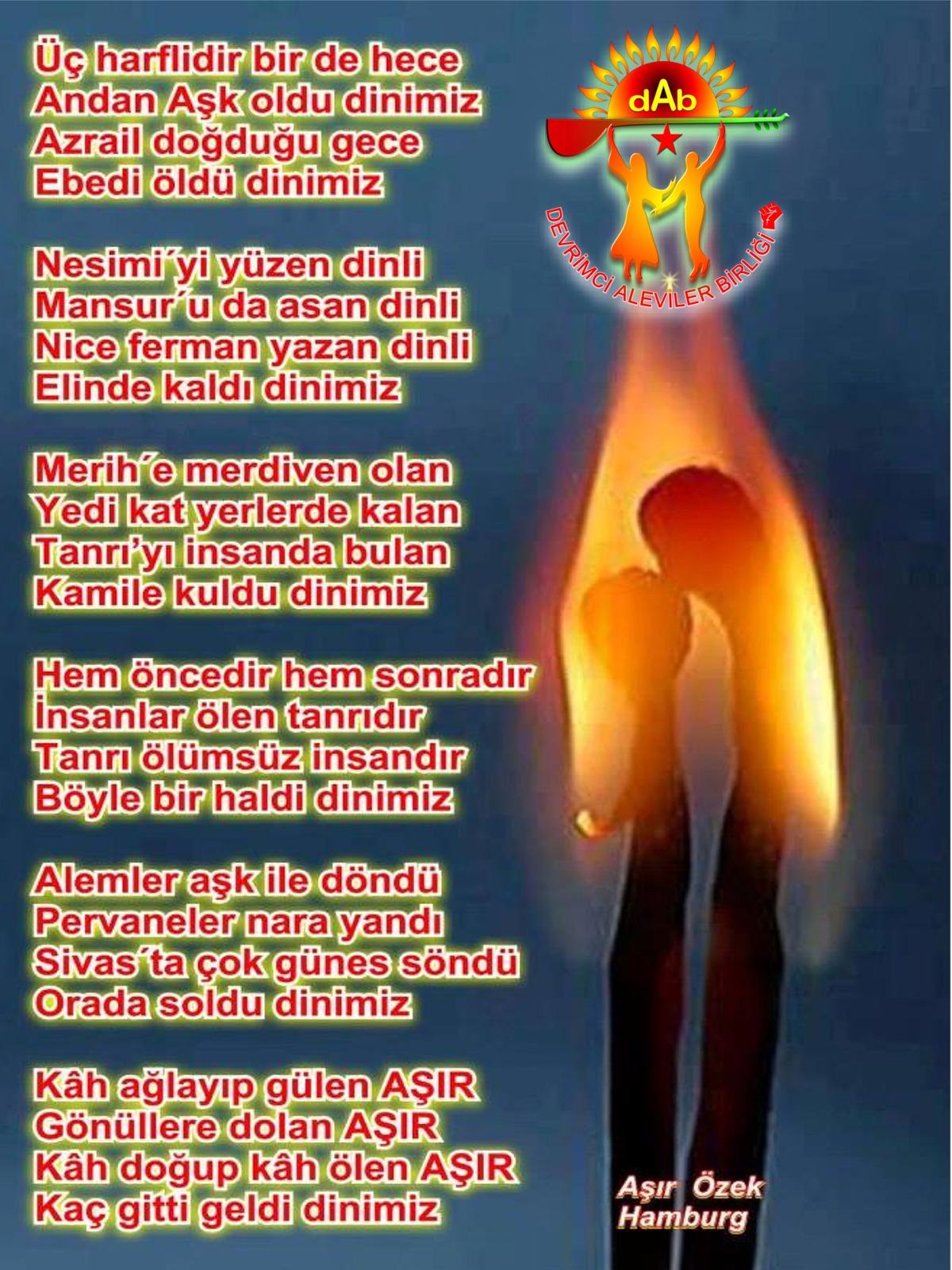 Alevi Bektaşi Kızılbaş Pir Sultan Devrimci Aleviler Birliği DAB asir özek dinimiz