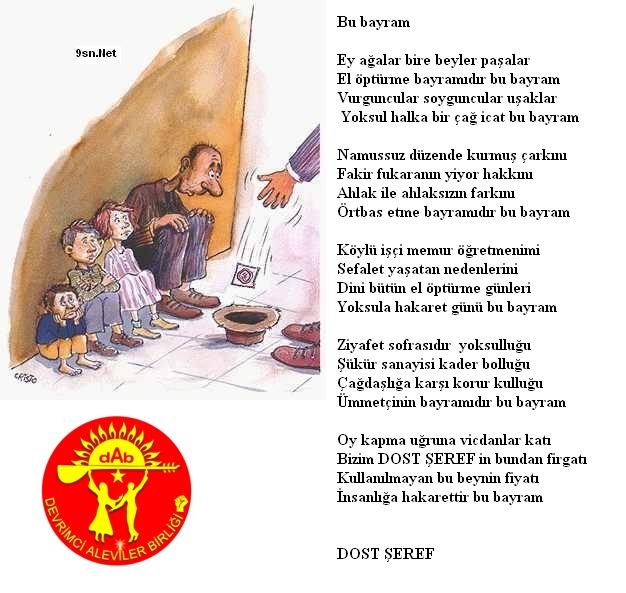 Alevi Bektaşi Kızılbaş Pir Sultan Devrimci Aleviler Birliği DAB bu bayram