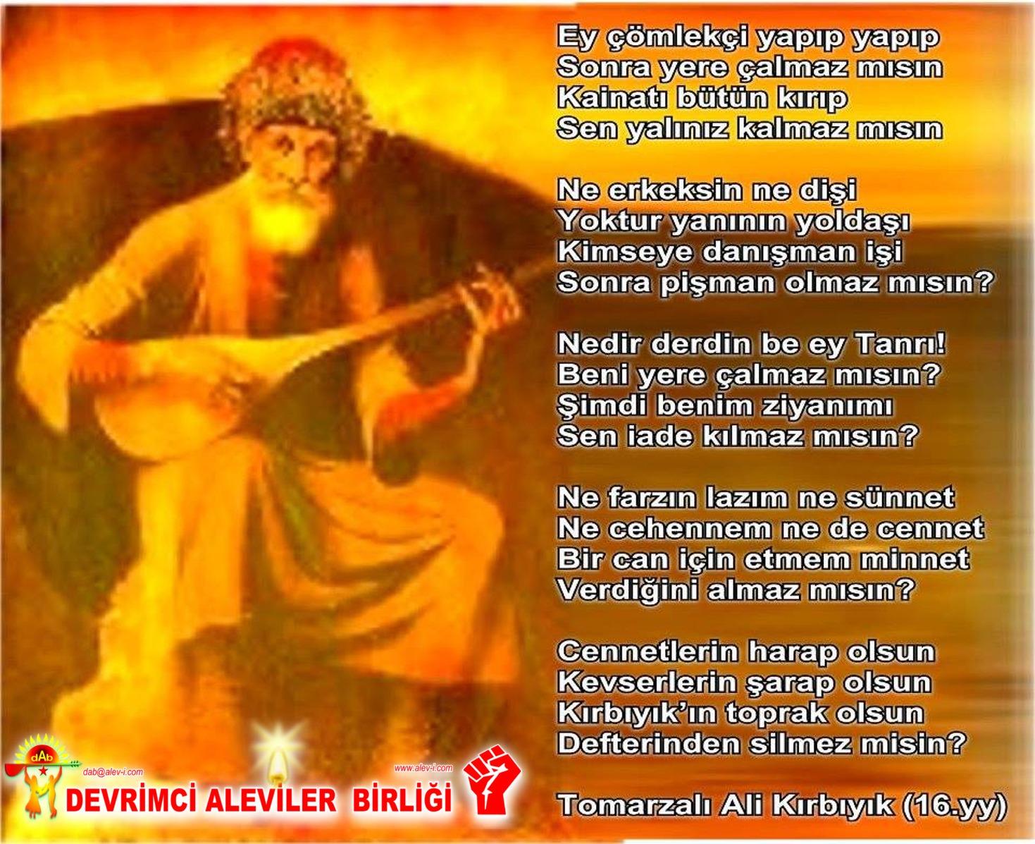 Alevi Bektaşi Kızılbaş Pir Sultan Devrimci Aleviler Birliği DAB islam dıı alevilik