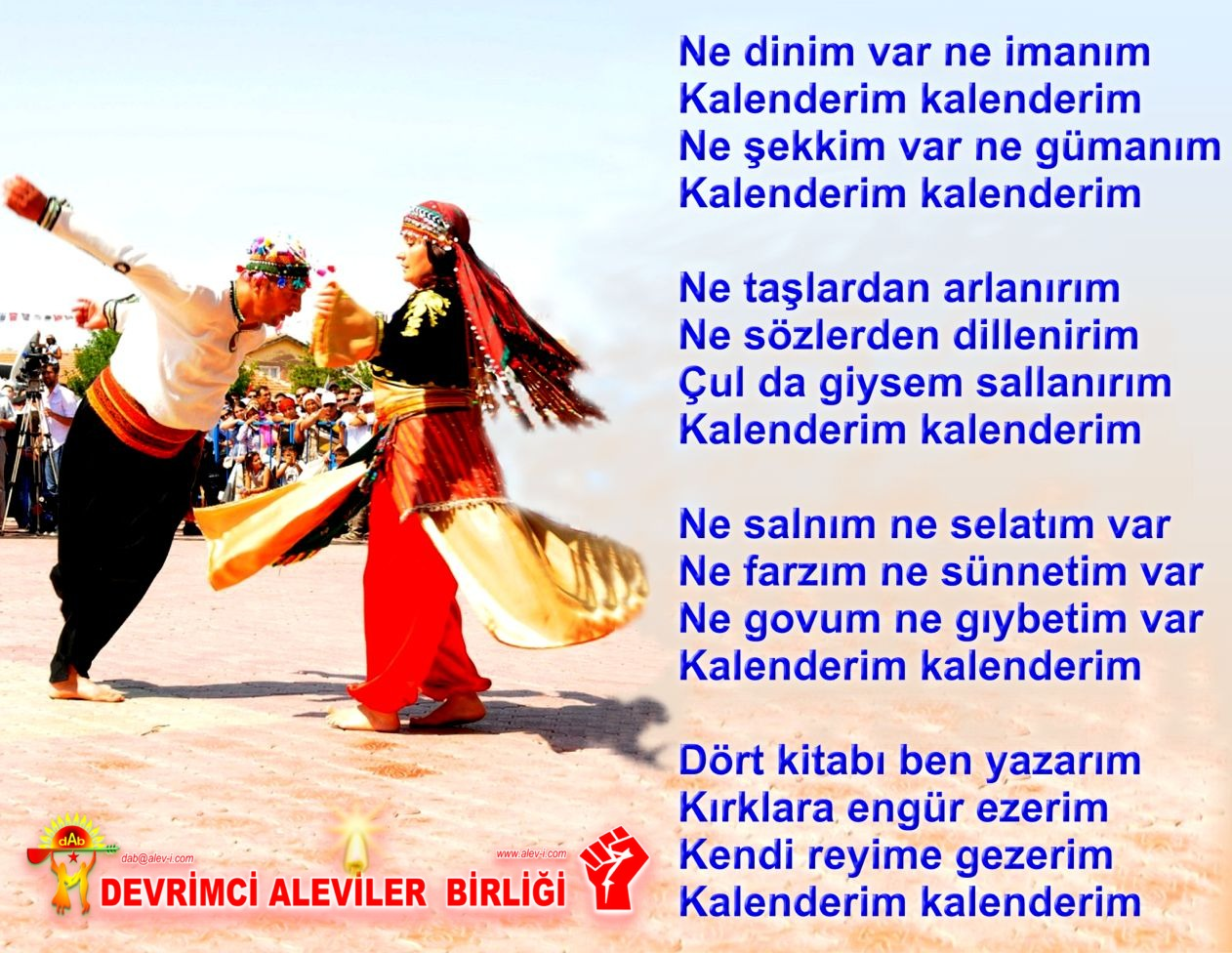 Alevi Bektaşi Kızılbaş Pir Sultan Devrimci Aleviler Birliği DAB post çul kalander