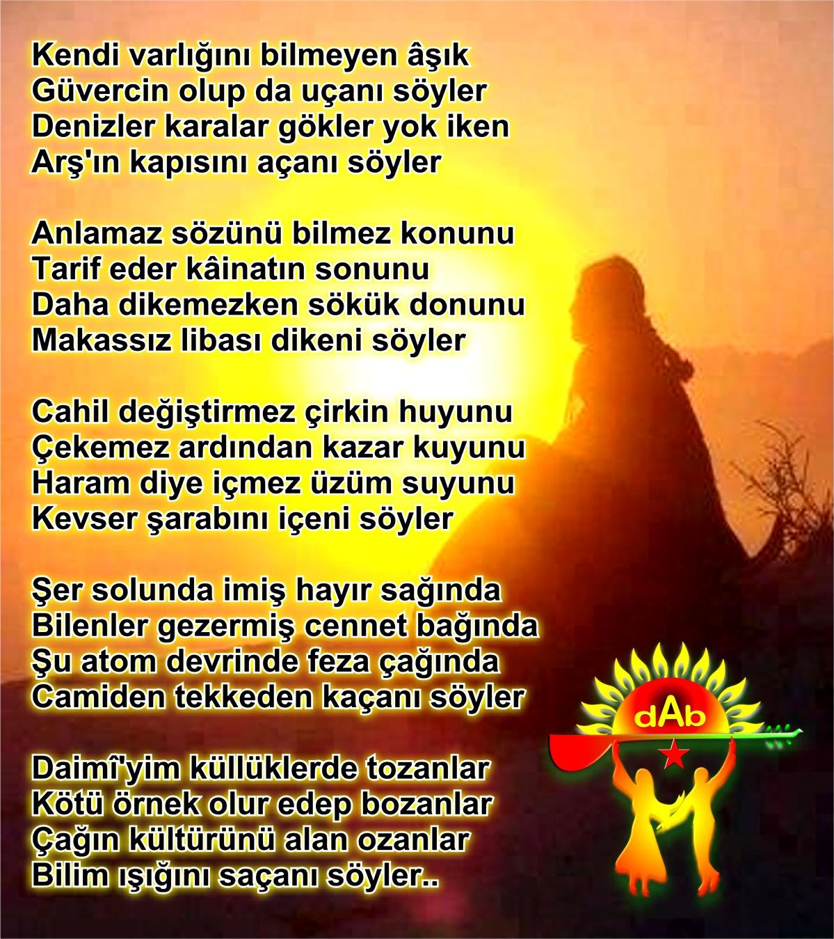 Alevi Bektaşi Kızılbaş Pir Sultan Devrimci Aleviler Birliği DAB söyler daiimi