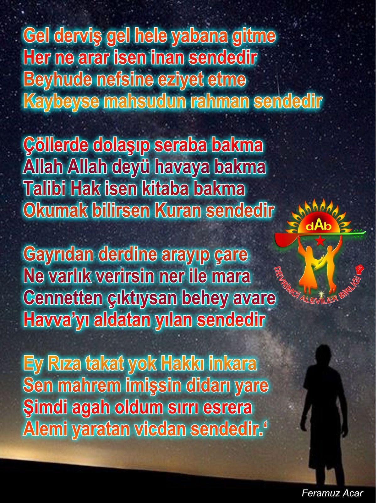 Alevi Bektaşi Kızılbaş Pir Sultan Devrimci Aleviler Birliği DAB sendedir