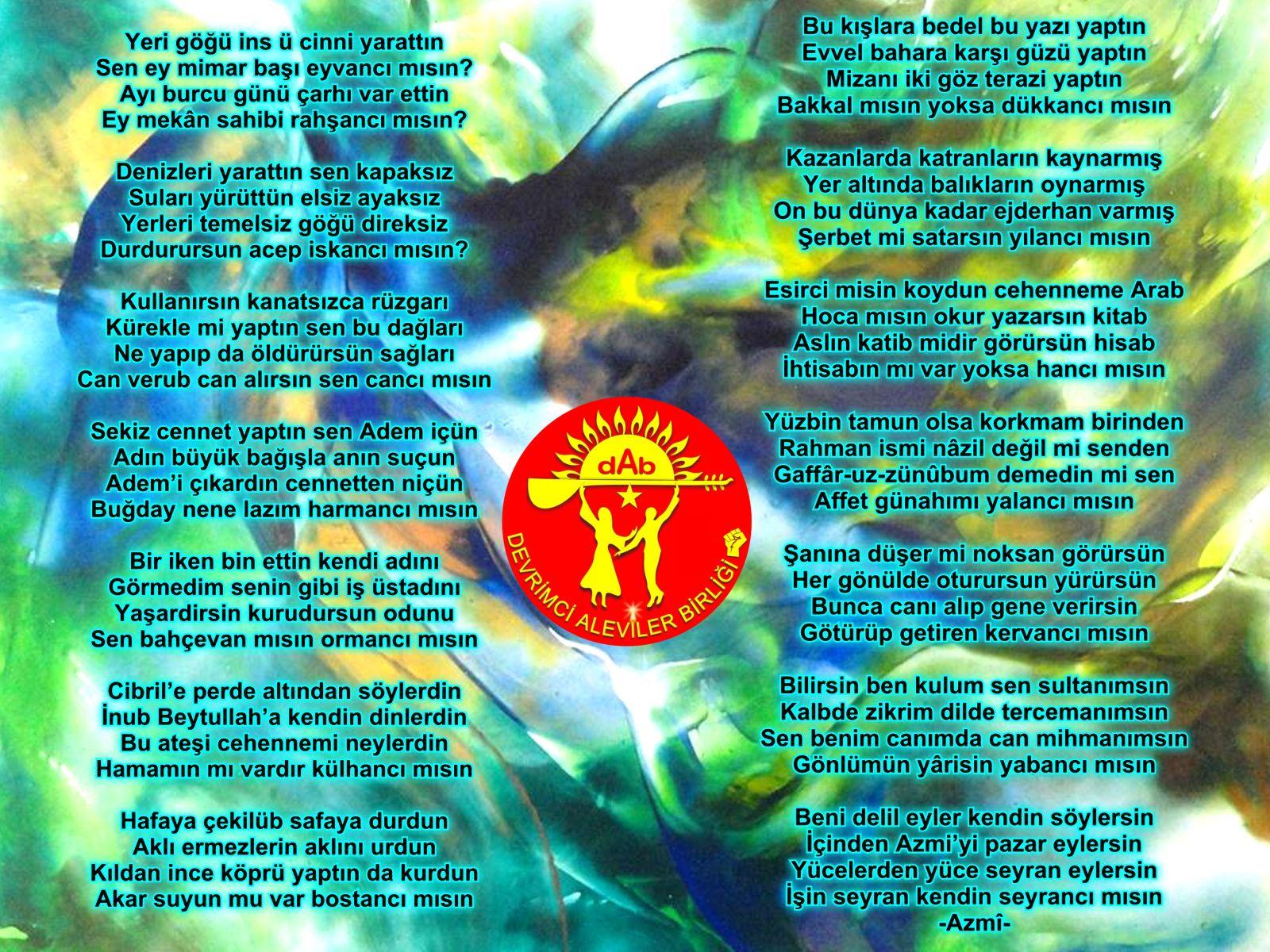 Alevi Bektaşi Kızılbaş Pir Sultan Devrimci Aleviler Birliği DAB seyranci