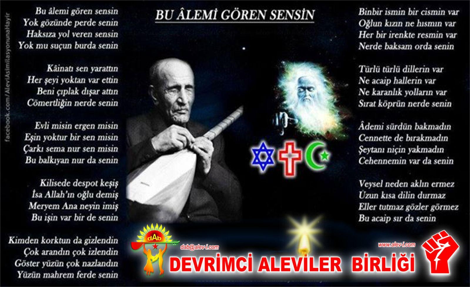 Alevi Bektaşi Kızılbaş Pir Sultan Devrimci Aleviler Birliği DAB tanrı tanri allah 2