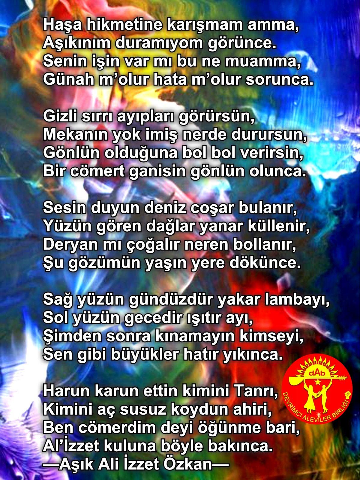 Alevi Bektaşi Kızılbaş Pir Sultan Devrimci Aleviler Birliği DAB tanri