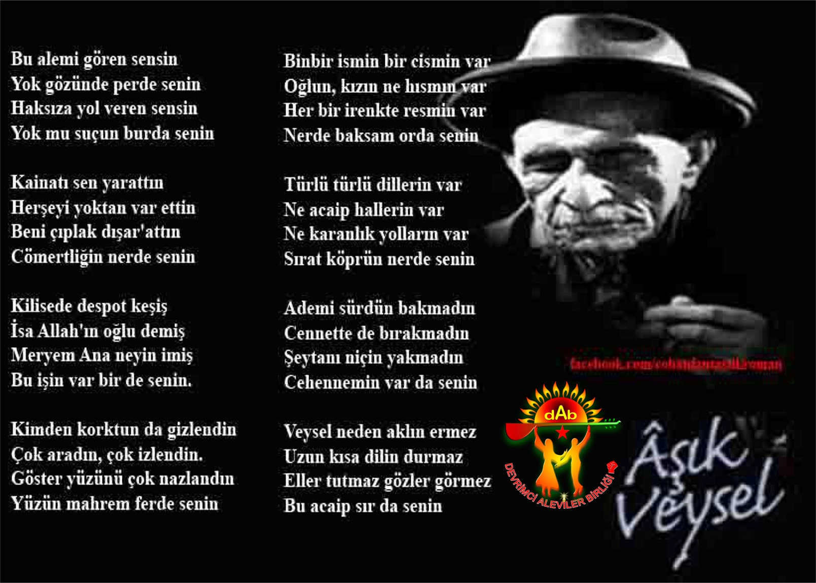 Alevi Bektaşi Kızılbaş Pir Sultan Devrimci Aleviler Birliği DAB veysel senin