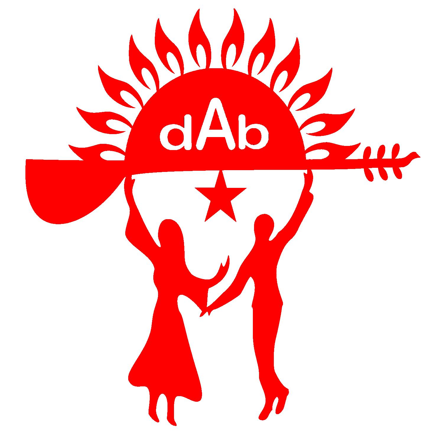 DAB-logo rød rød