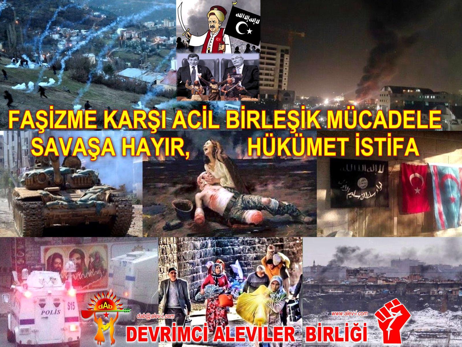 fasizme karsi birles Devrimci Aleviler birligi DAB kizilbas pir sultan bektasi savasa hayir