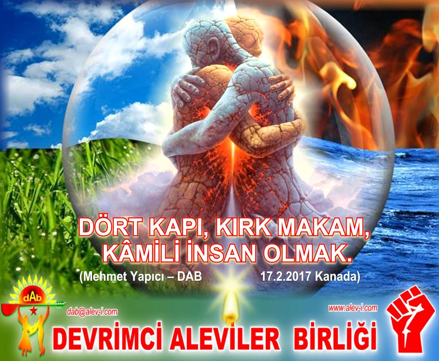 4 unsur hava su toprak can Devrimci Alevi DAB kizilbas bektasi pir sultan cem mehmet yapici dab